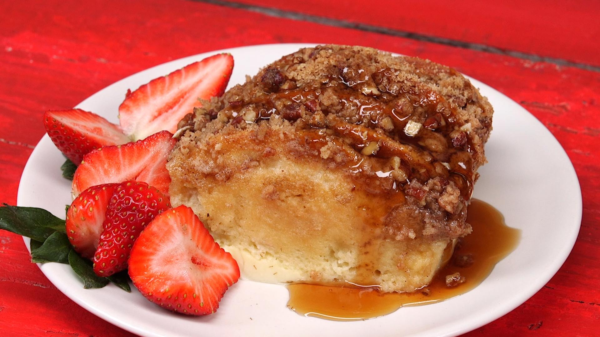 Pancake Bake with Cinnamon Streusel Recipe