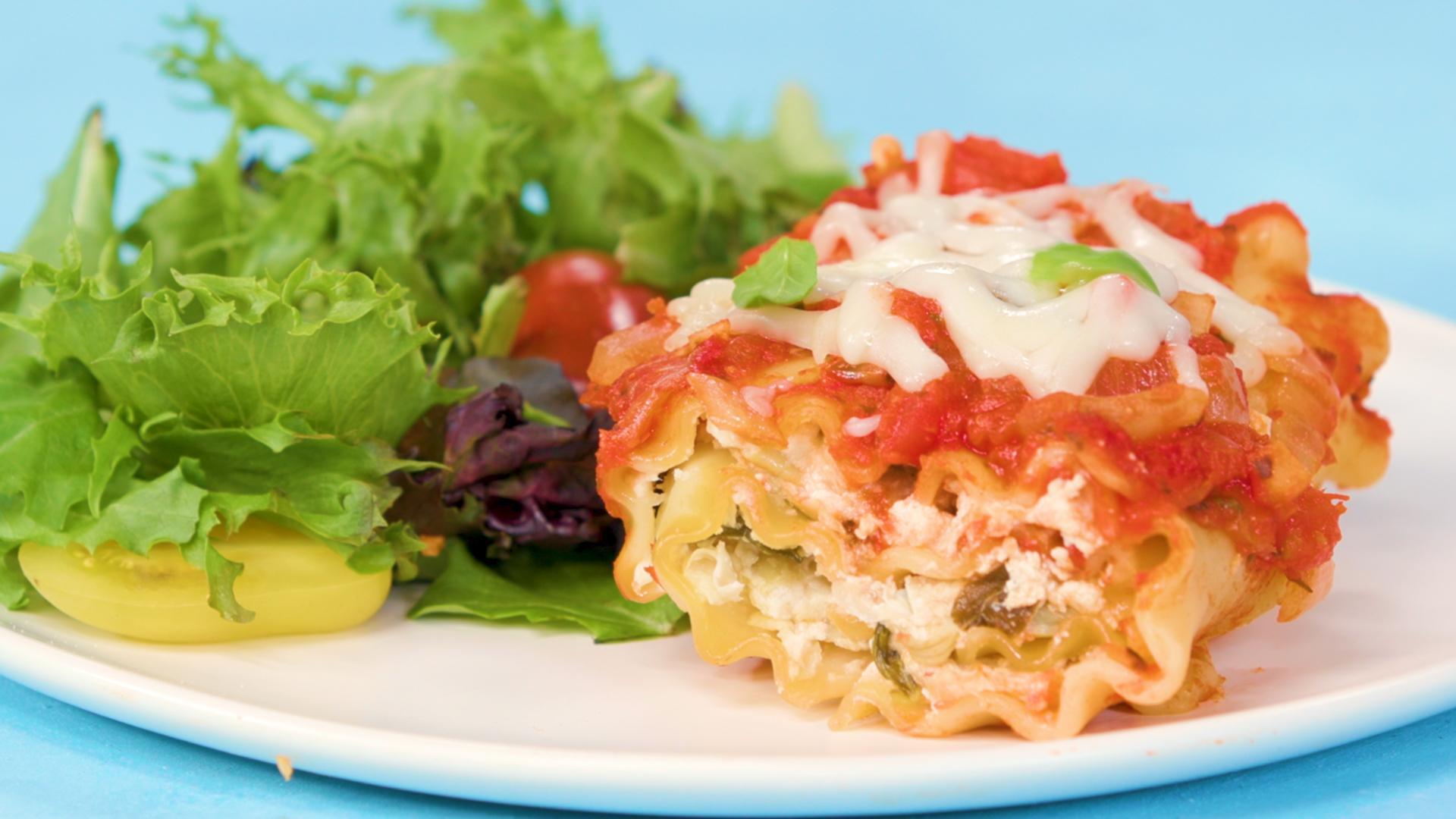 Tomato-Basil Lasagna Rolls Recipe