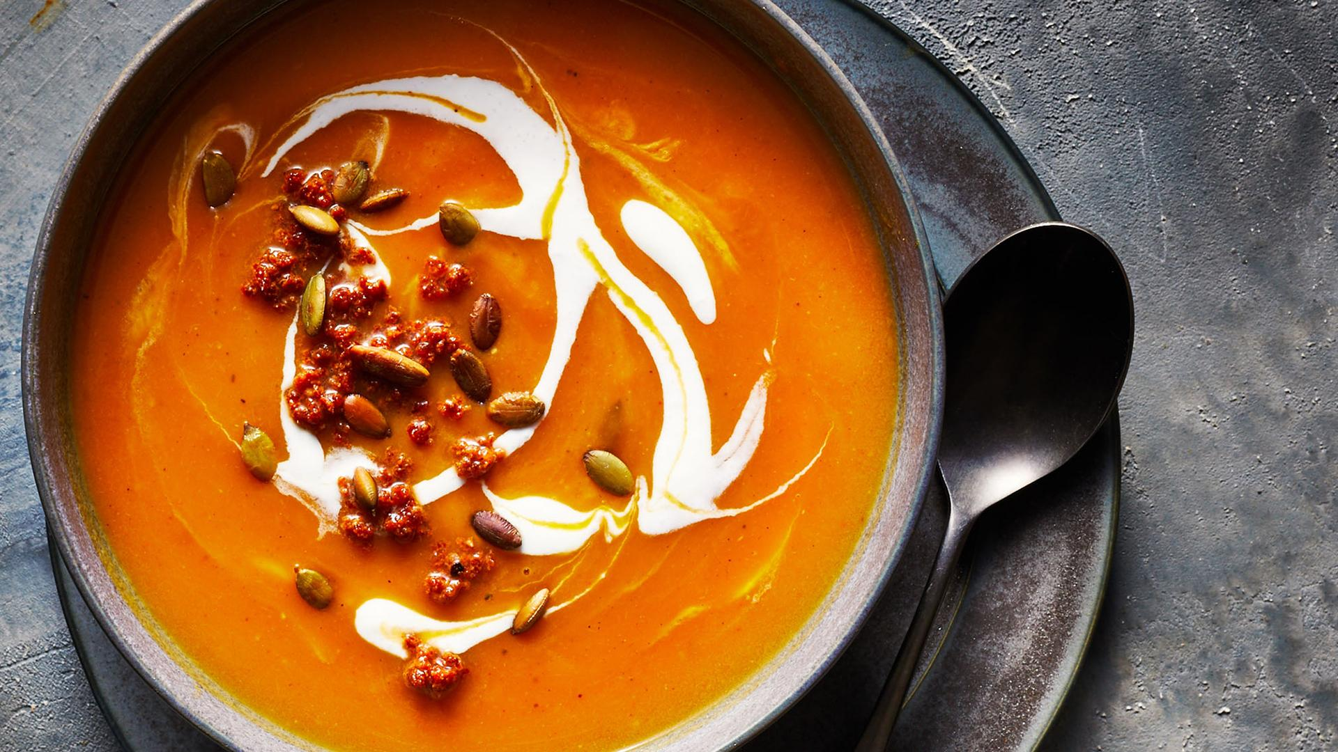 Instant Pot Butternut Squash Soup with Chorizo