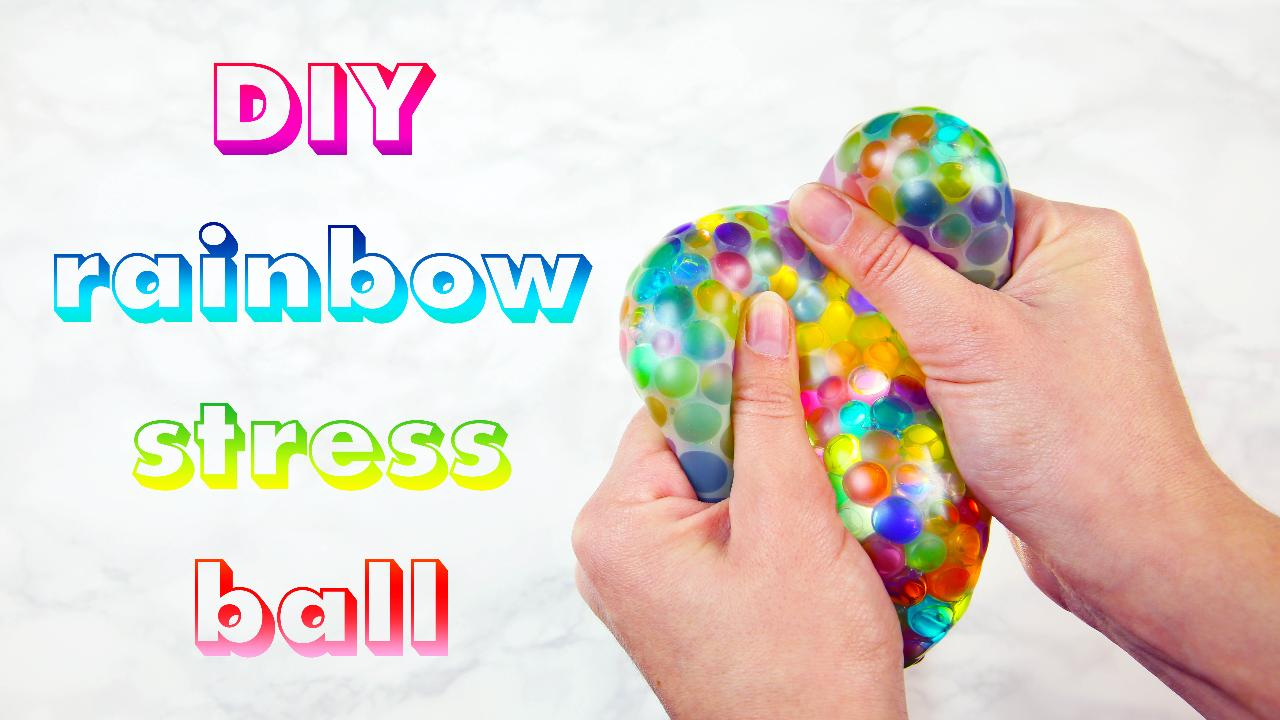 This DIY rainbow stress ball is exactly what your workweek needs