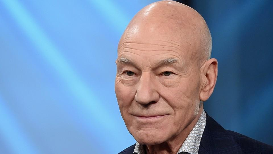 Patrick Stewart shared how fostering a pit bull has changed his life, and get ready to cry