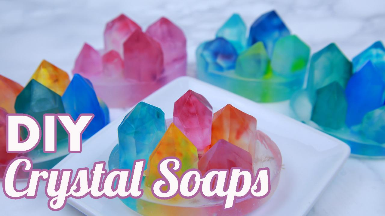 These DIY crystal soaps will make your next bath unbelieva-bubble