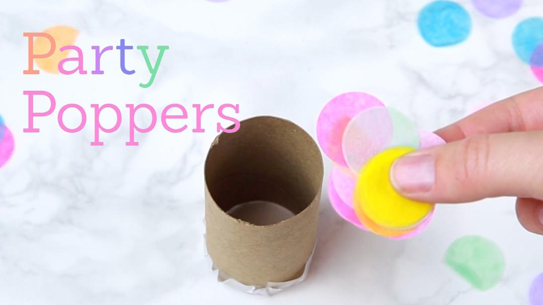 Turn plain ol' toilet paper rolls into glam party poppers for New Year's Eve