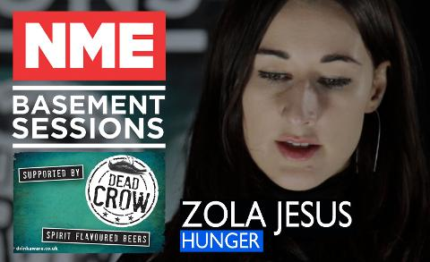 Zola Jesus Plays Stripped-Back 'Hunger' - NME Basement Sessions