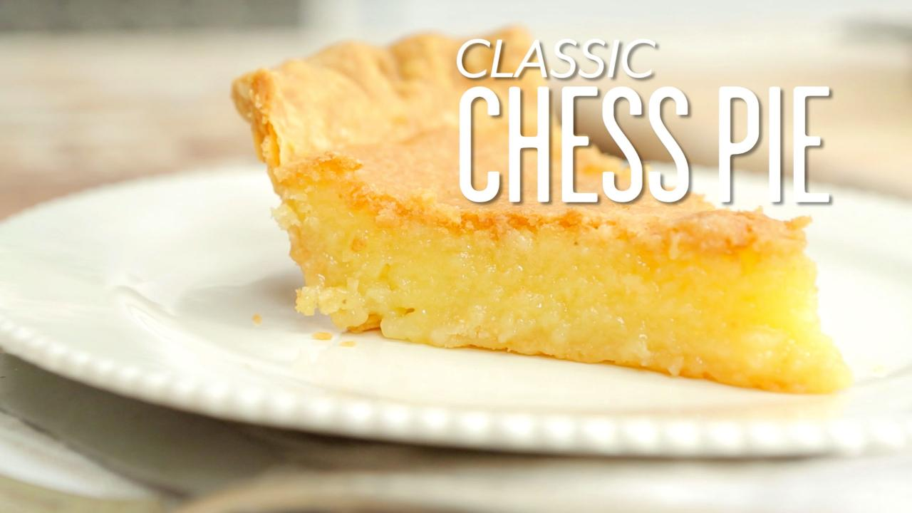 Old Fashioned Chess Pie Recipe - Southern Living