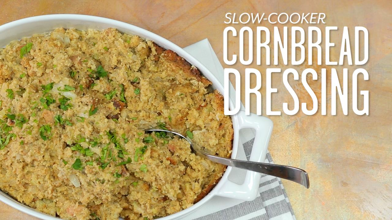 Slow-Cooker Cornbread Dressing Recipe