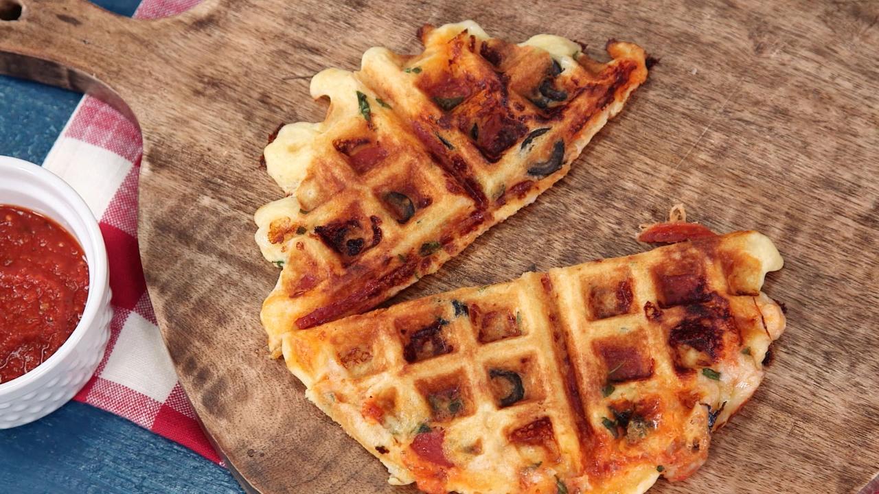 Pizza Waffles