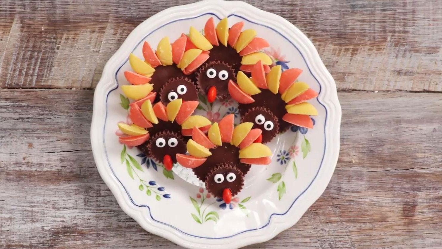 Chocolate-Peanut Butter Turkeys