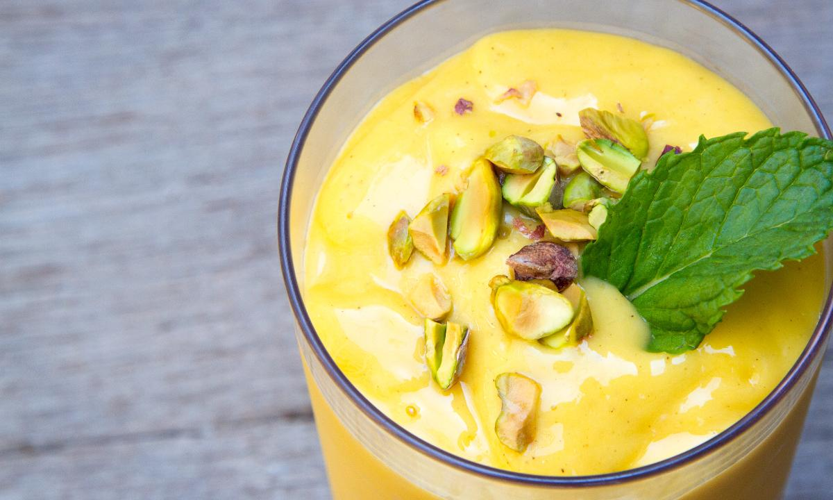 How to Make a Coconut Yogurt Mango Lassi