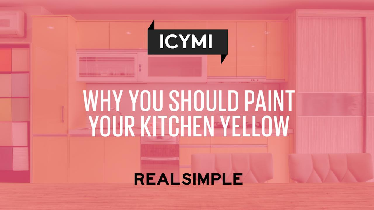 Why You Should Paint Your Kitchen Yellow