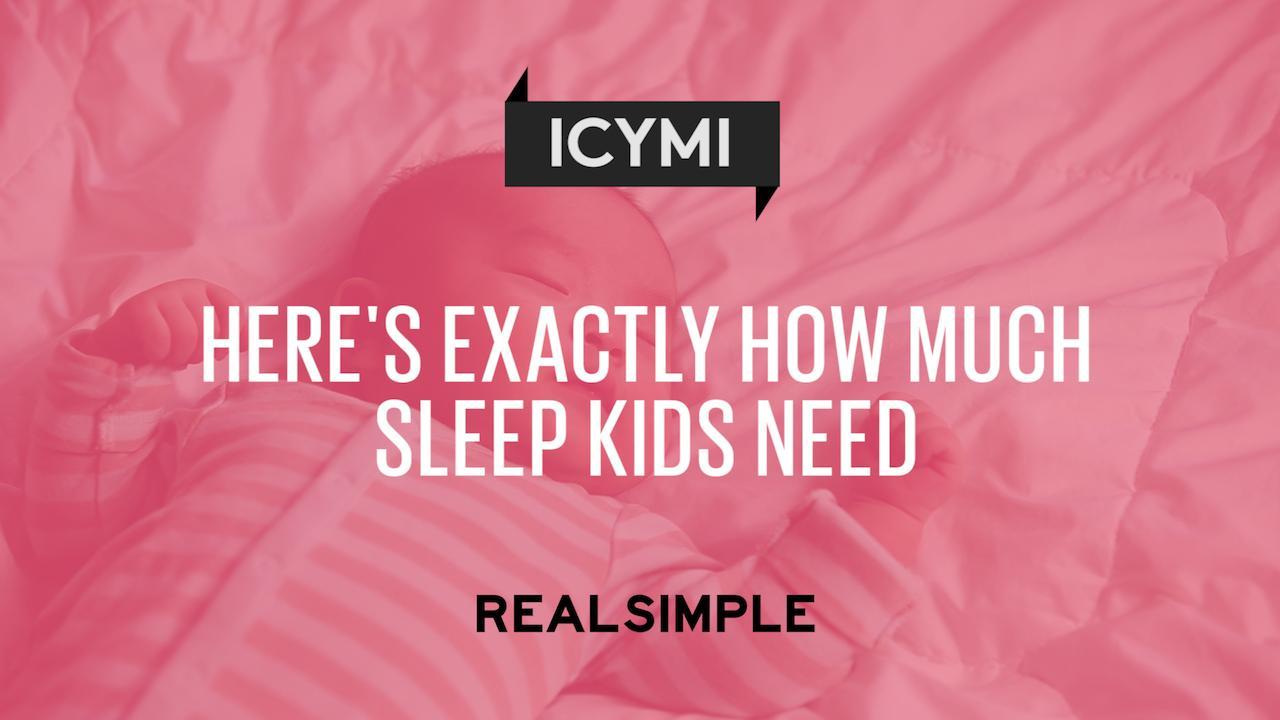 Here's Exactly How Much Sleep Kids Need, According to New Guidelines