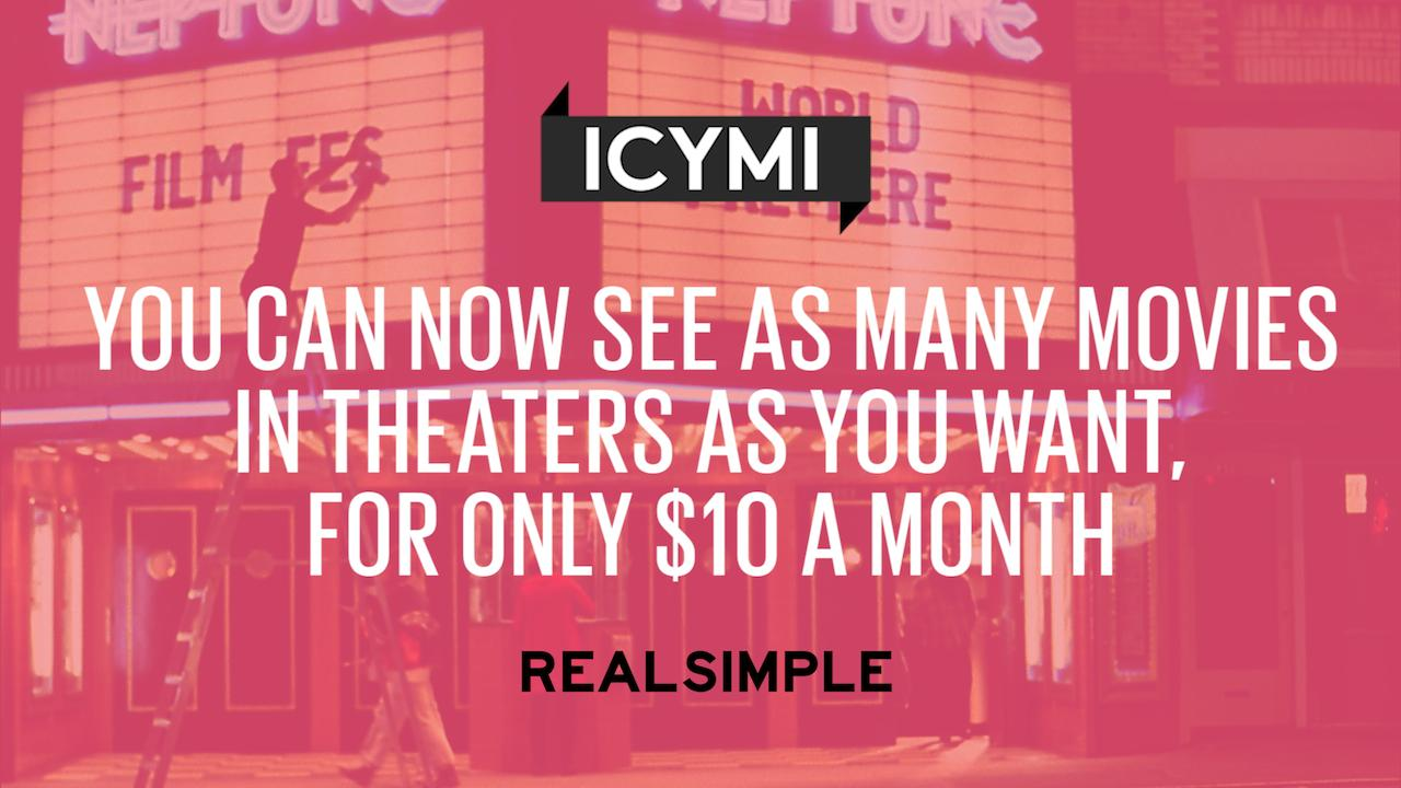 You Can Now See As Many Movies in Theaters As You Want, for Only $10 a Month