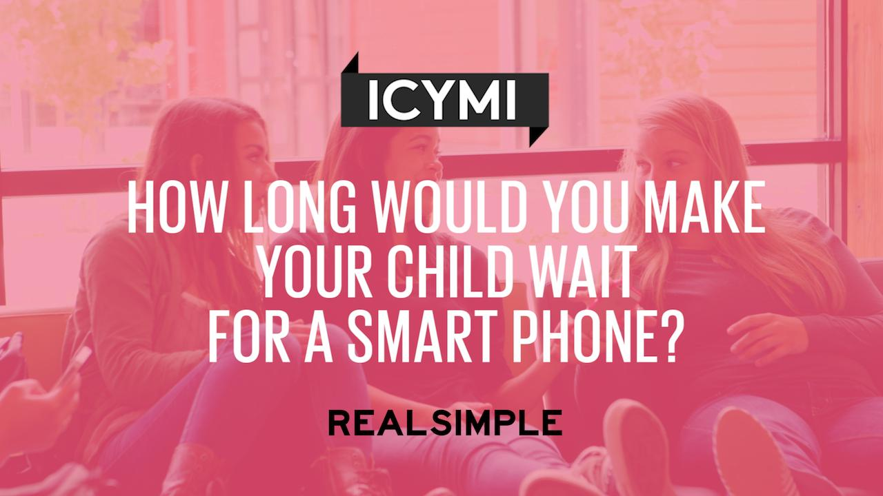 When You Should Give Your Kid a Smart Phone, According to Parents