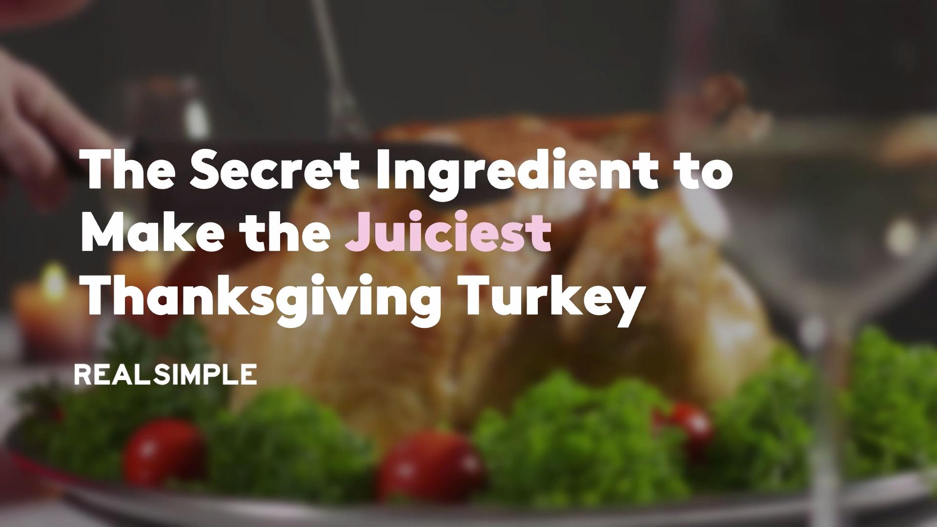 The Secret Ingredient to Make the Juiciest Thanksgiving Turkey
