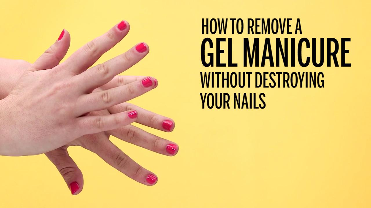 How To Remove Your Gel Mani At Home (Without Wrecking Your
