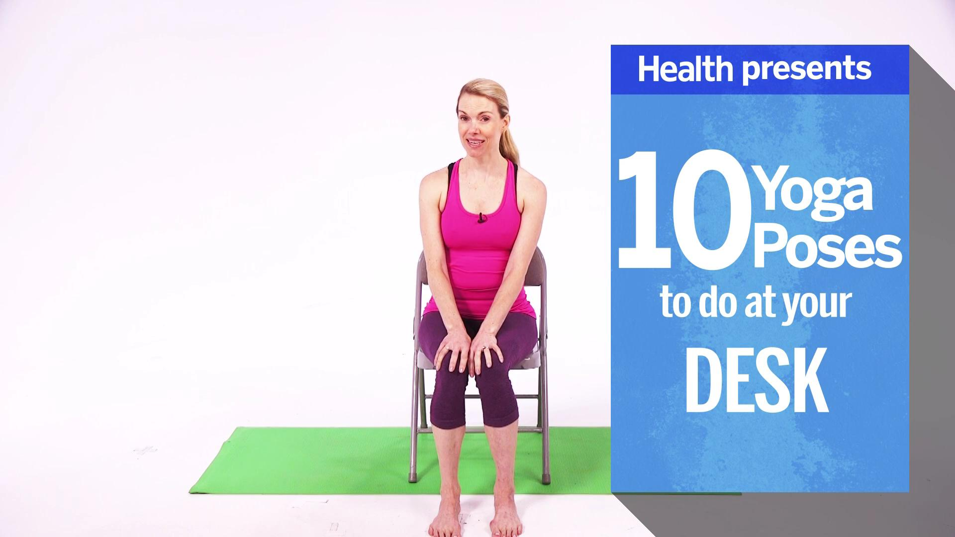 chair yoga video. eagle pose chair yoga video