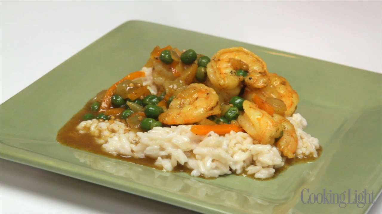How To Cook Bombay Shrimp Curry With Coconut Rice