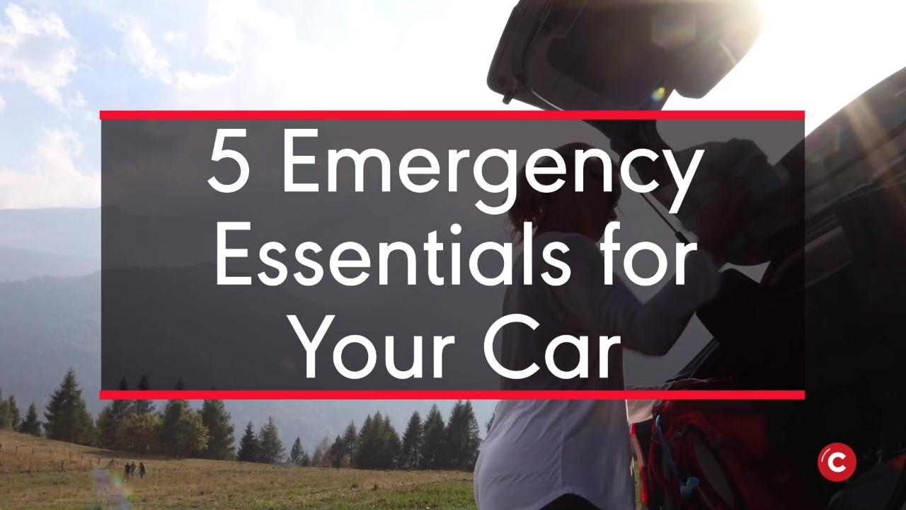 5 Emergency Essentials For Your Car
