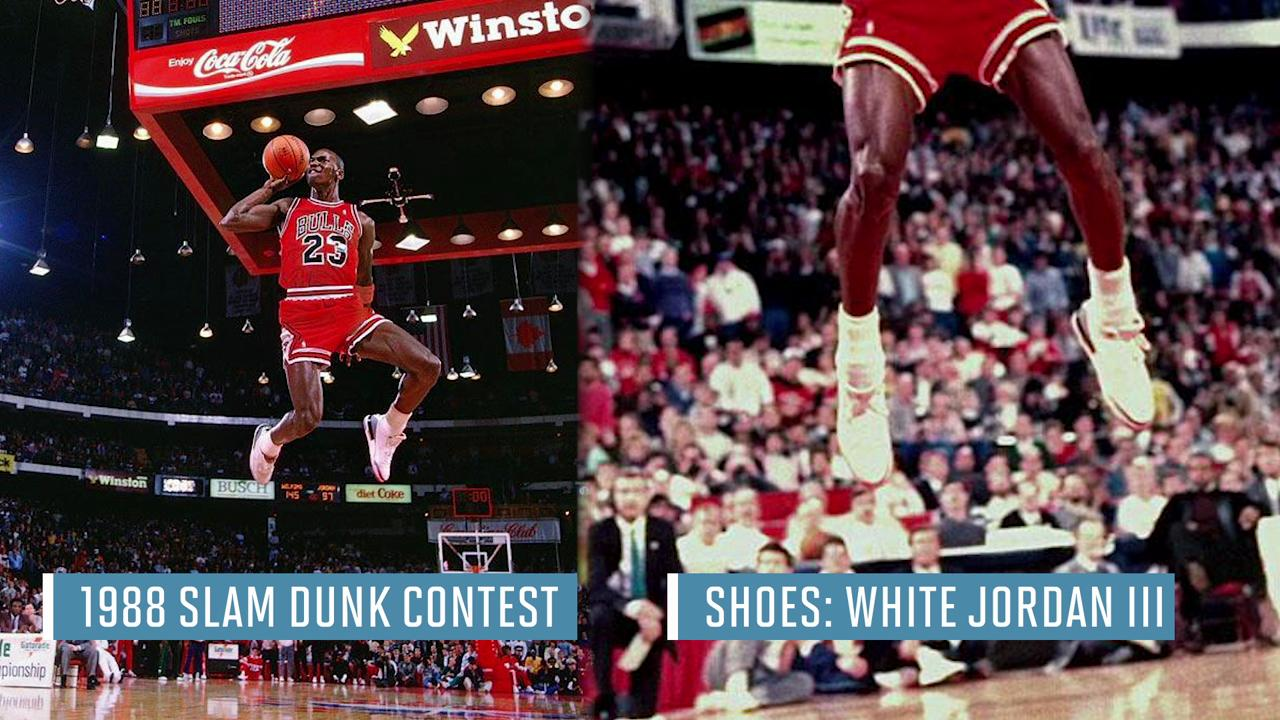 e0c5708a277a The sneakers from Michael Jordan s most iconic moments