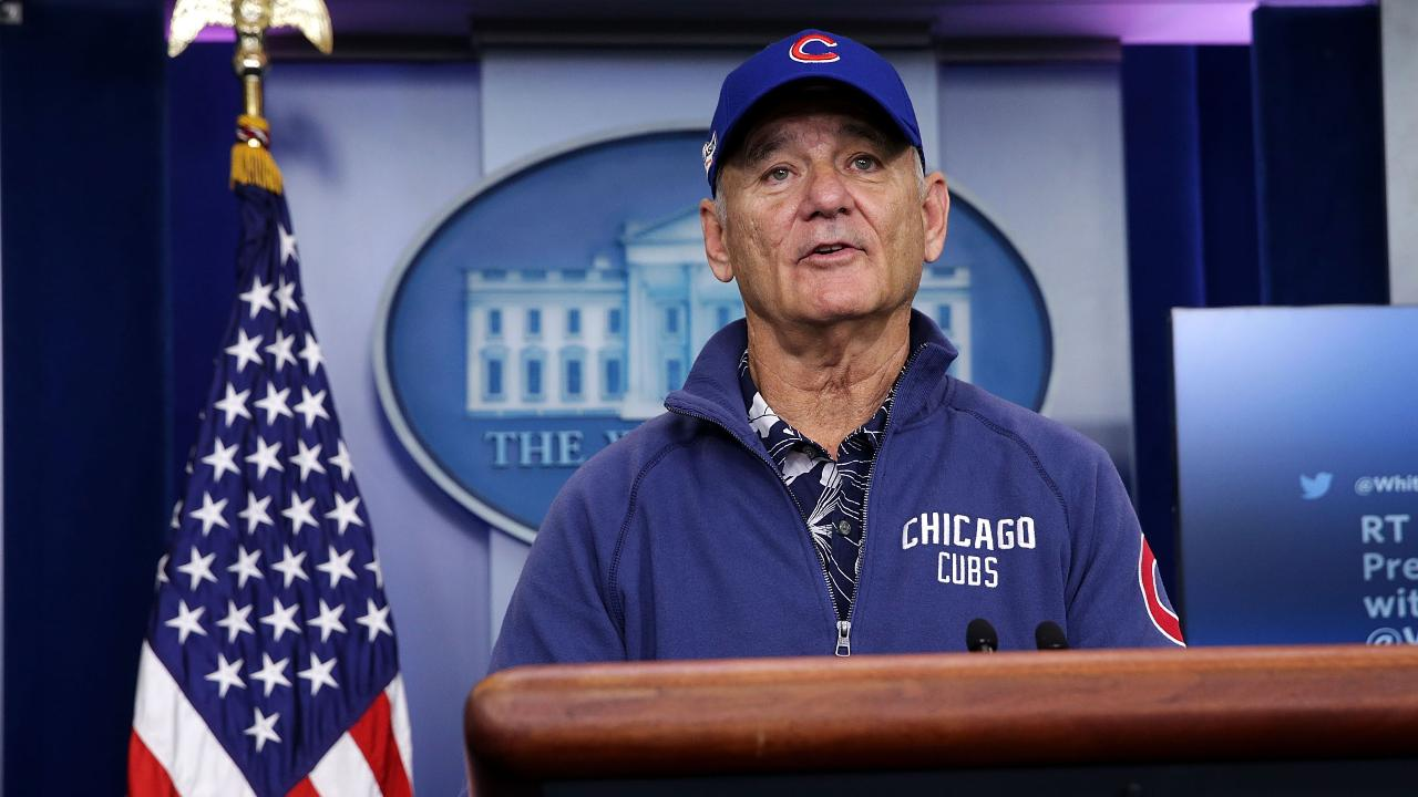Bill Murray Crashes White House Briefing Full Cubs Attire Time