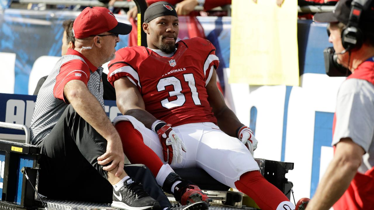 18adeead29f VIDEO - David Johnson carted off with apparent knee injury | SI.com
