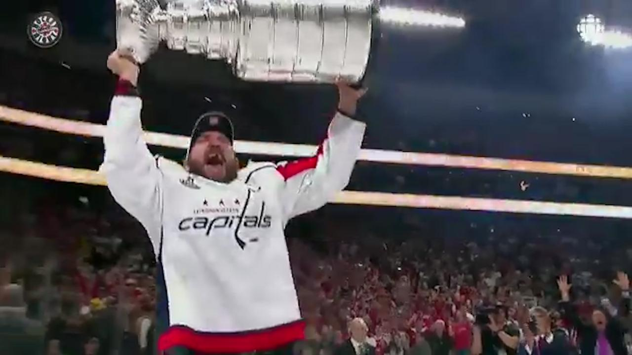 ded0a103dc3 Capitals raise Stanley Cup banner before bludgeoning Bruins