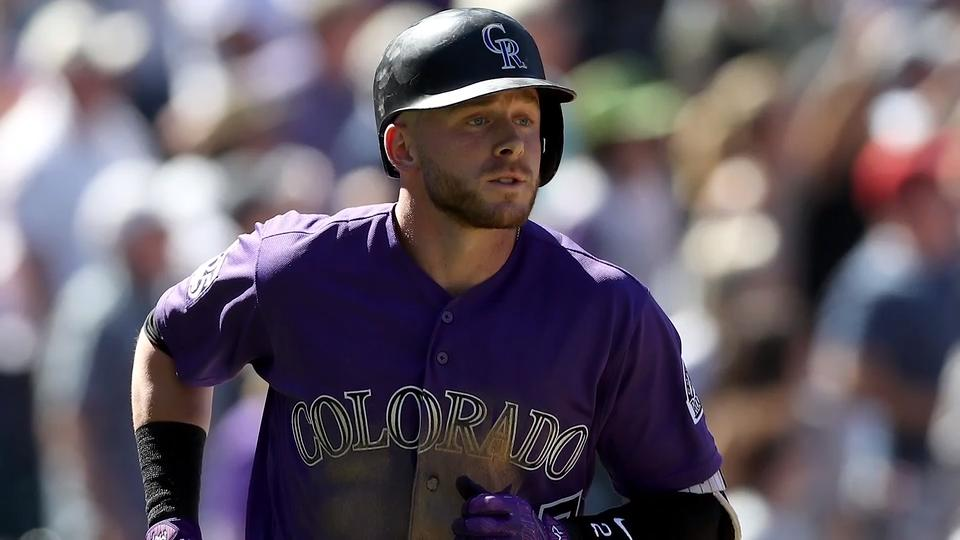 the best attitude ecca4 32221 Rockies' Trevor Story May Have UCL Damage in Elbow