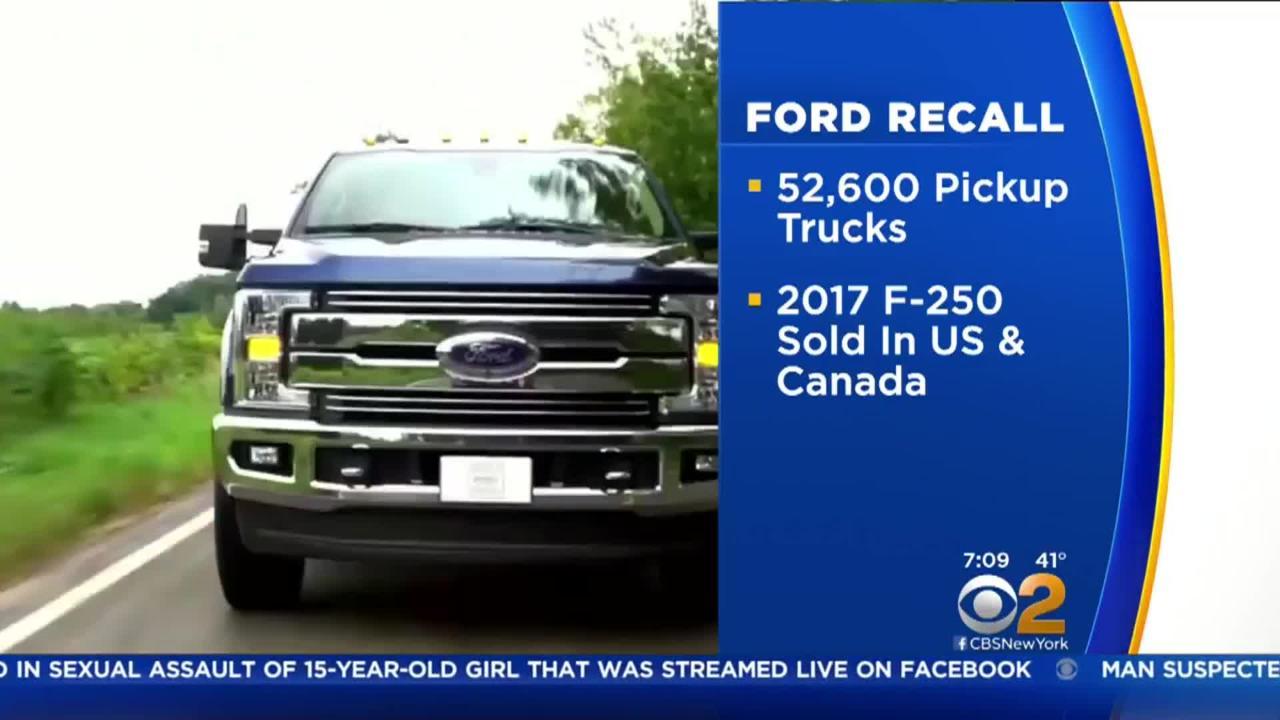 ford f250 transmission recall