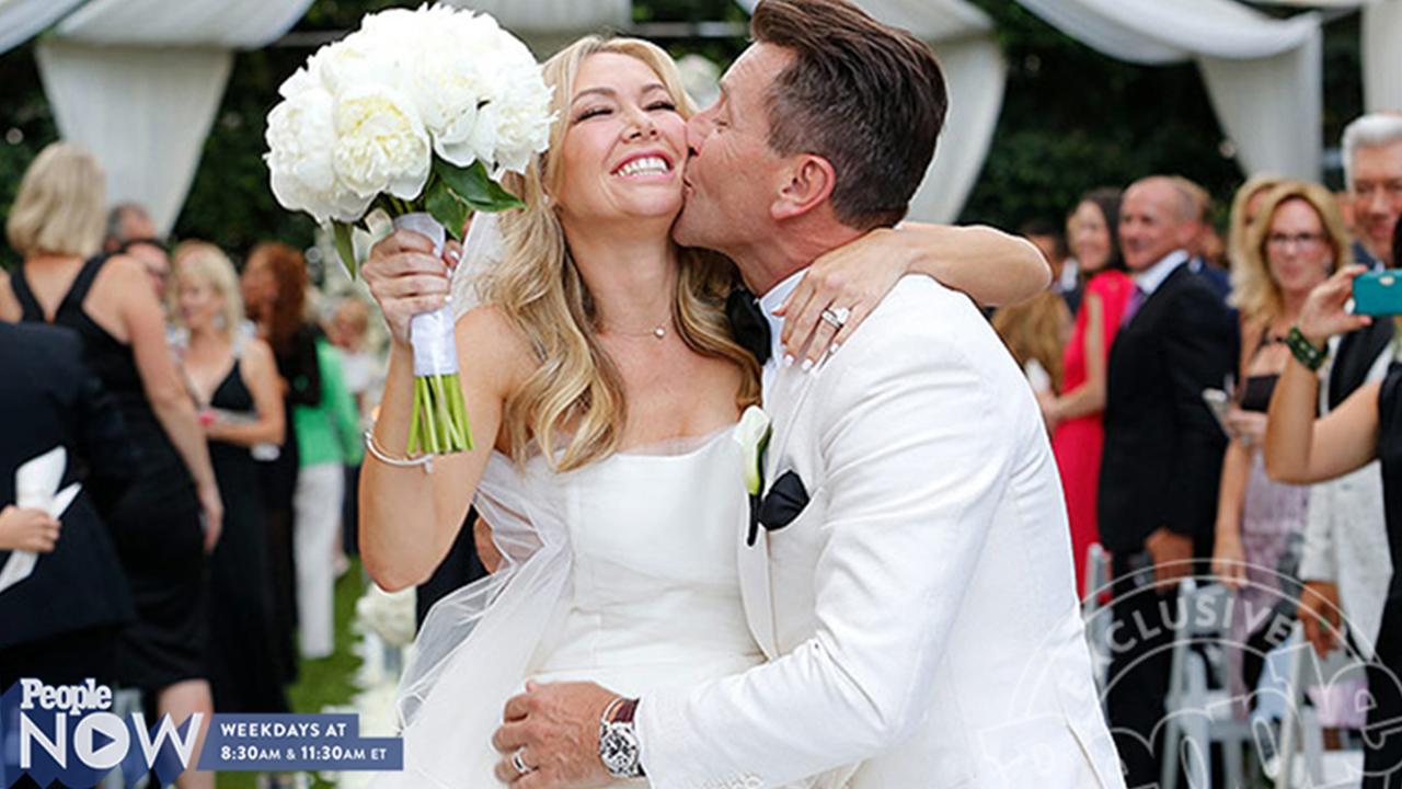 see kym johnsons second wedding dress peoplecom
