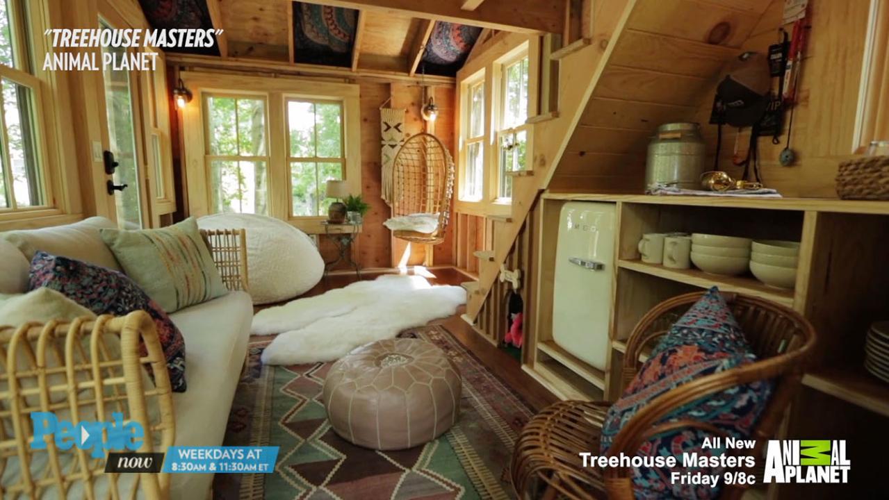 grace vanderwaals treehouse masters treehouse reveal peoplecom - Treehouse Masters Interior