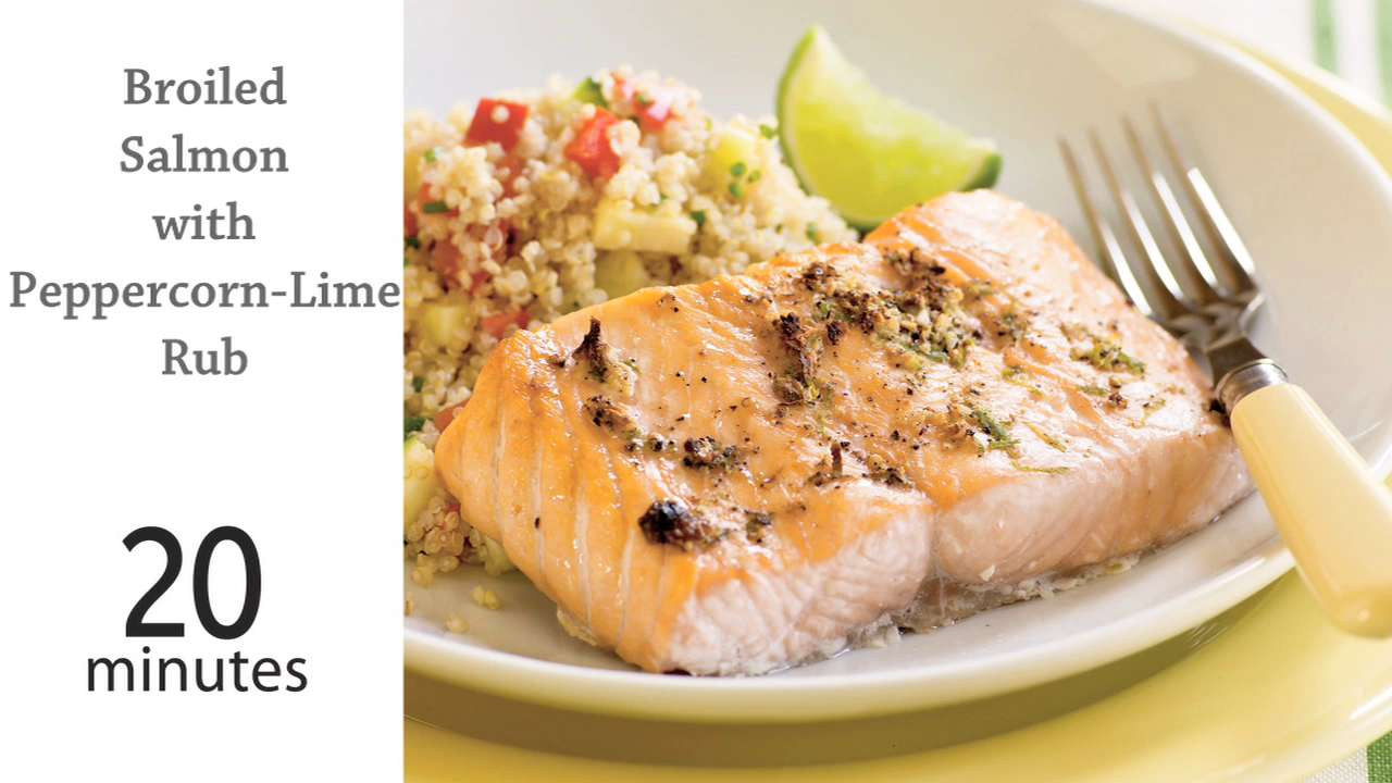 Broiled salmon with peppercorn lime rub recipe myrecipes ccuart Choice Image