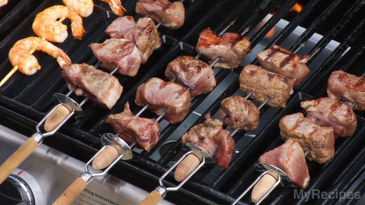 How long do i grill chicken skewers - Videos Recipes How To Grill Kebabs