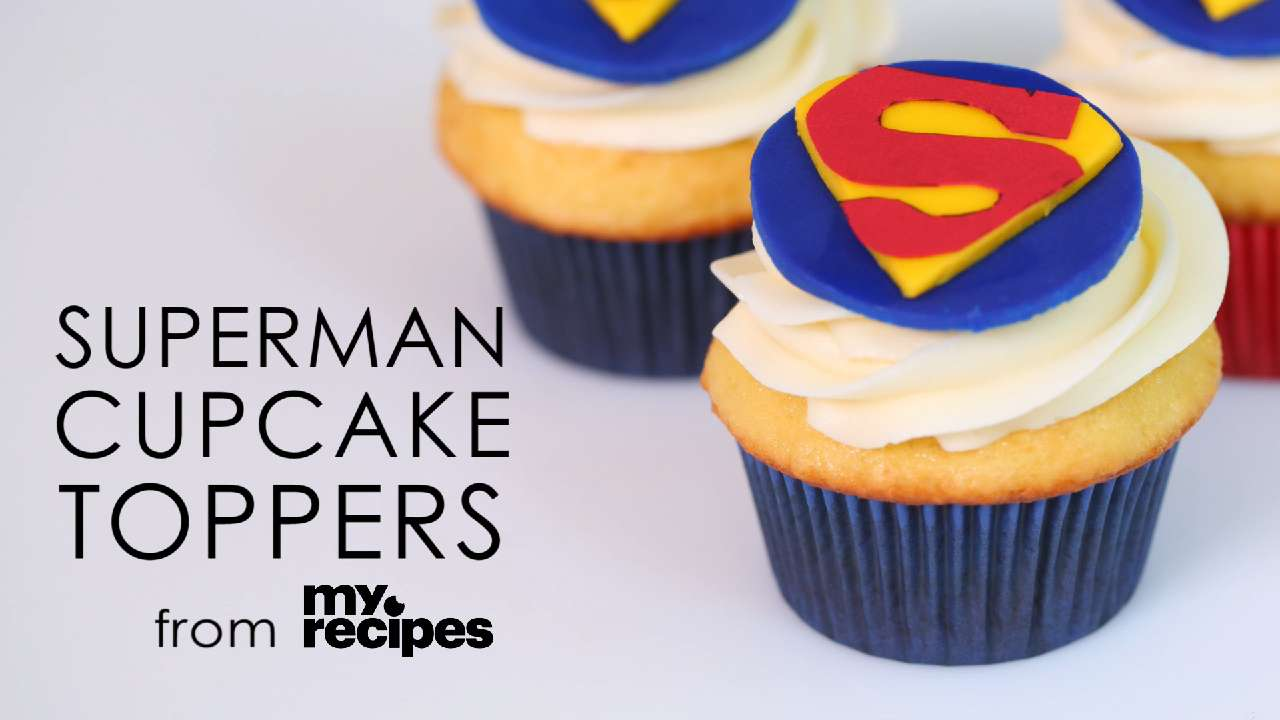 Superman Cupcakes Recipe MyRecipes