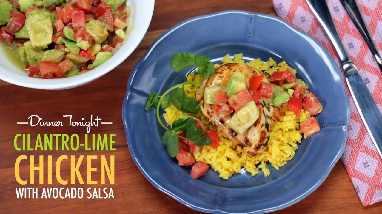 cilantro lime chicken with avocado salsa cooking light