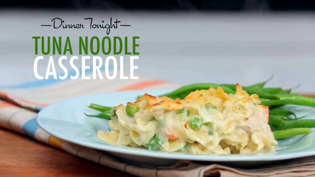 How to make tuna noodle casserole video myrecipes for How to make tuna fish casserole