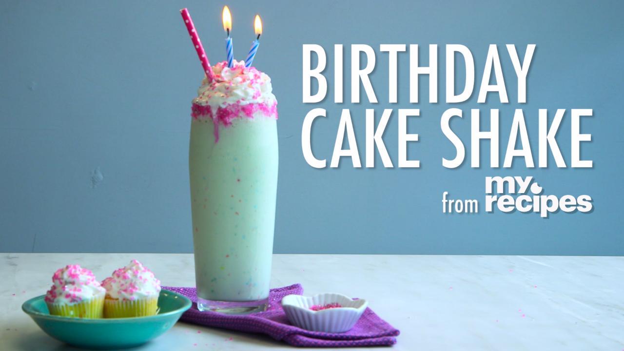 Birthday Cake Shake Recipe MyRecipes