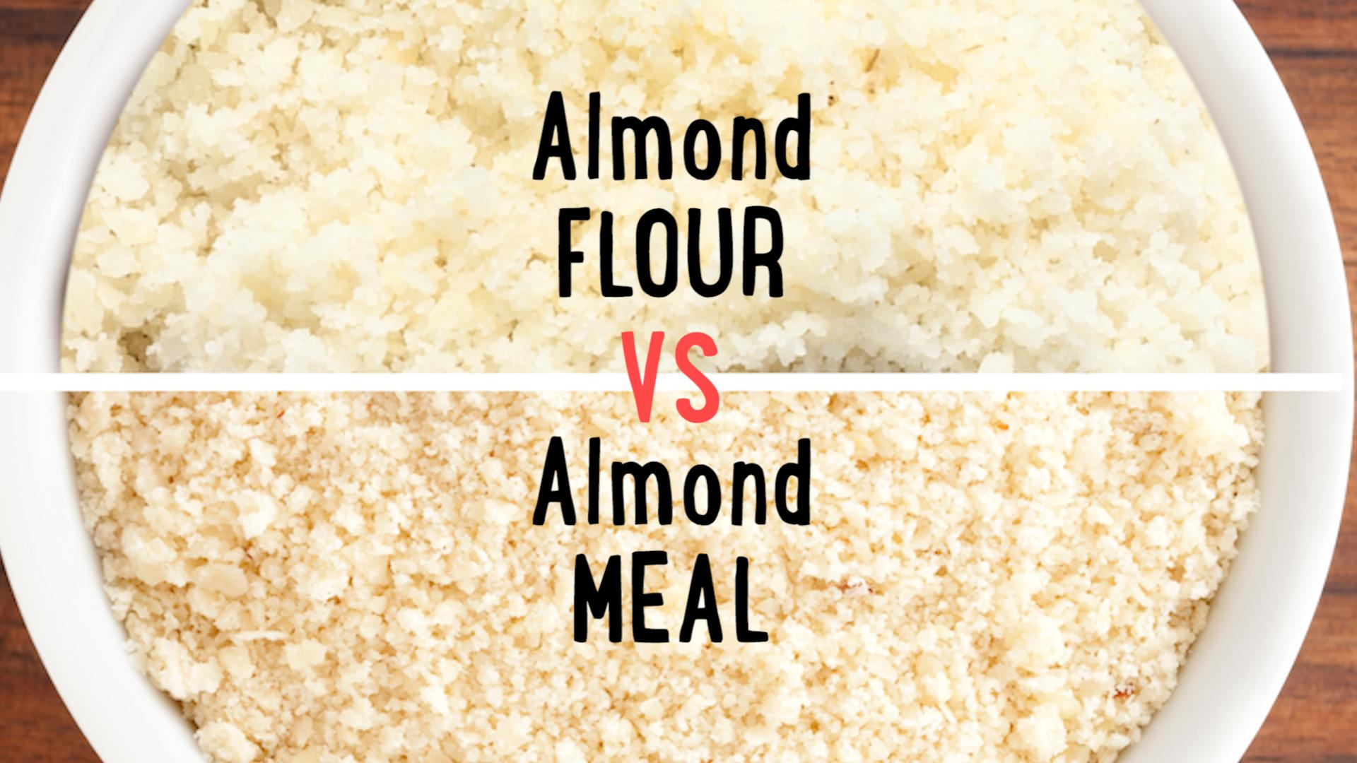 Almond flour and almond meal