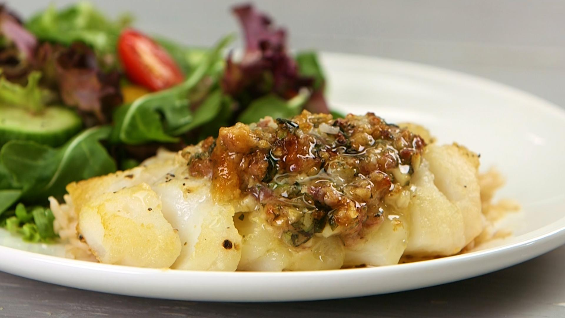 How to Make Roasted Cod with Garlic Butter - Video | MyRecipes