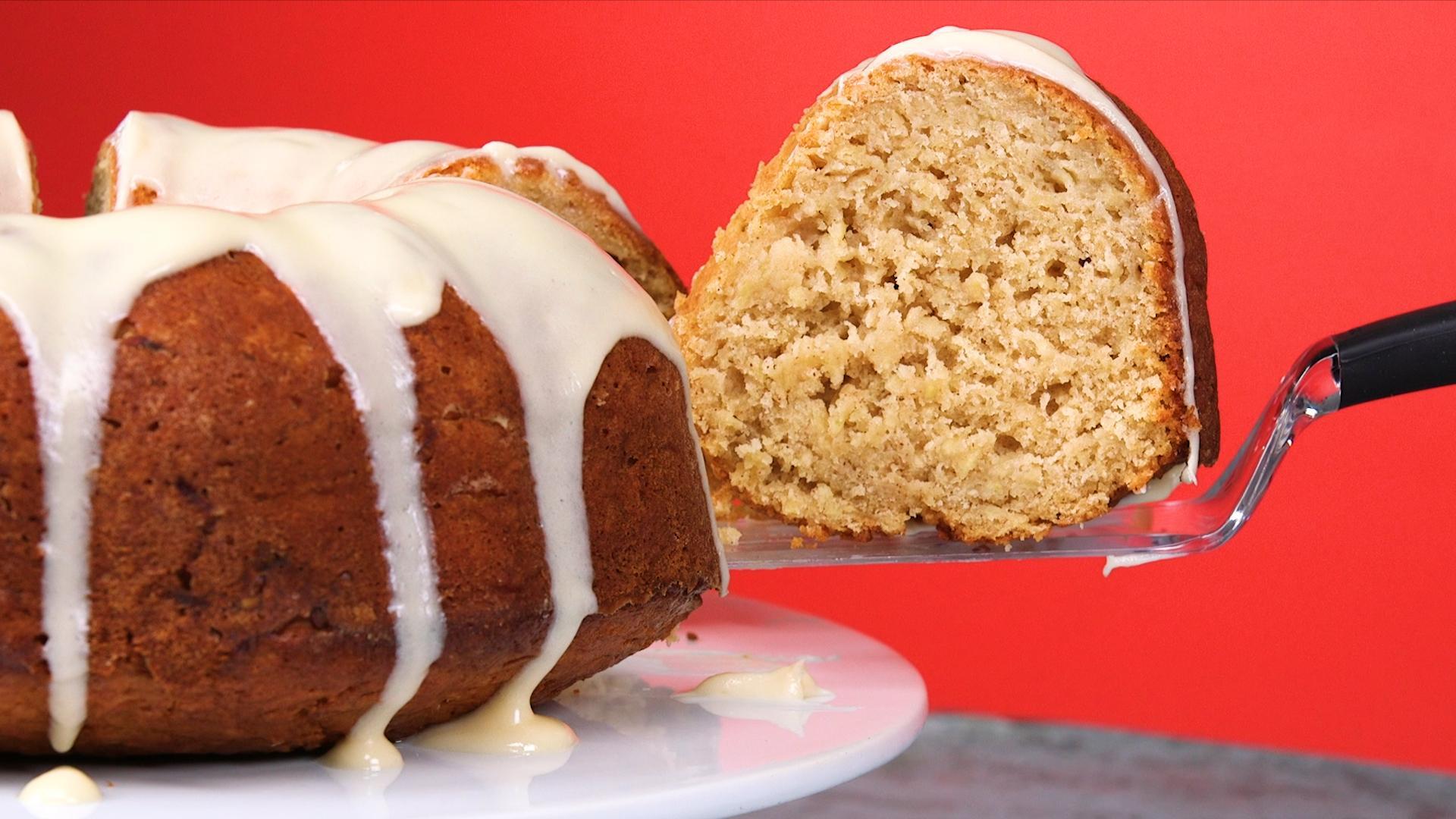 How To Make Apple Bundt Cake With Apple Cream Cheese Glaze Video Myrecipes
