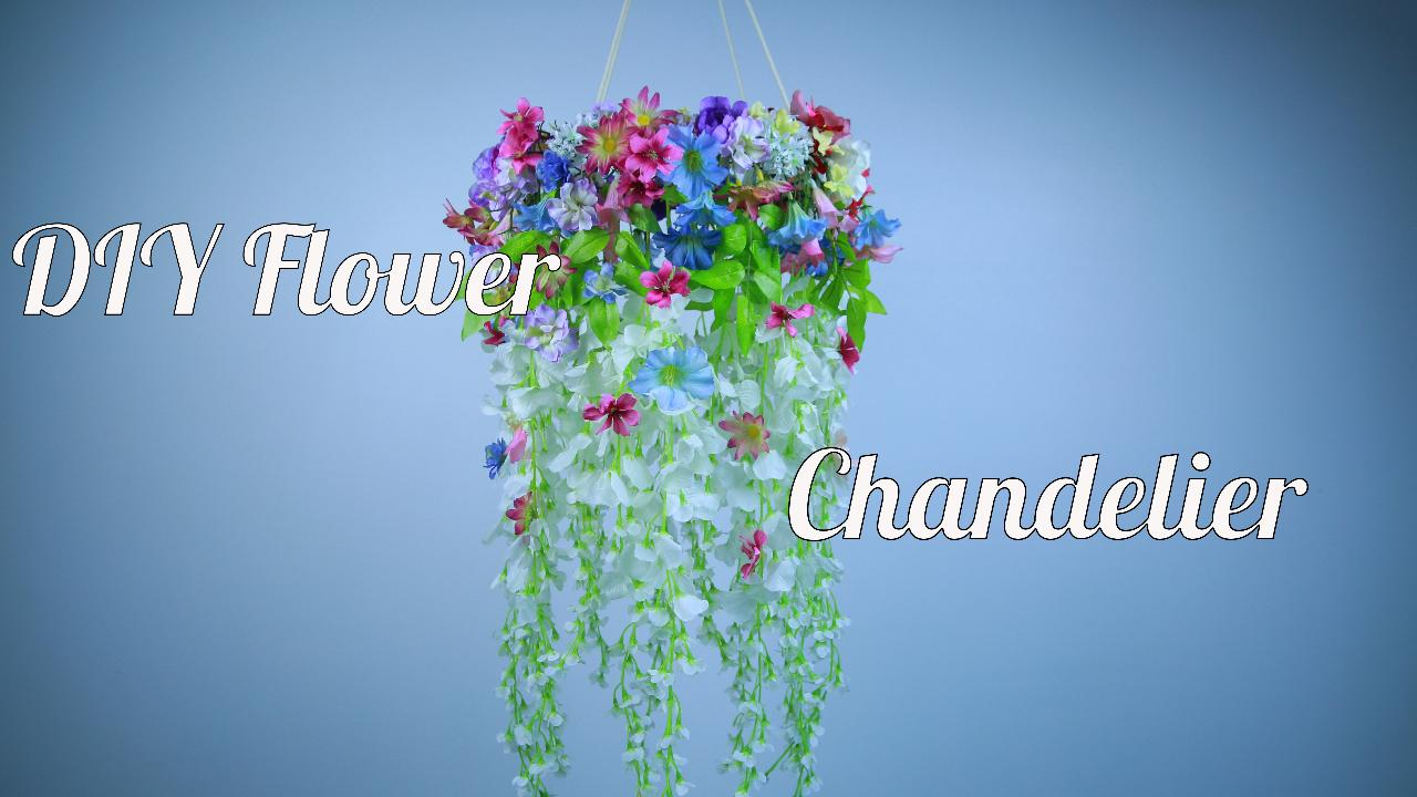 Diy flower chandelier lifestyle hellogiggles arubaitofo Image collections