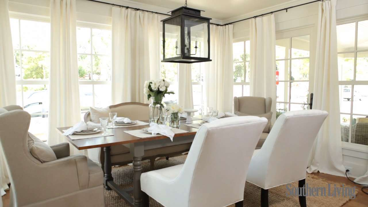 Farmhouse renovation dining room southern living for Southern dining room