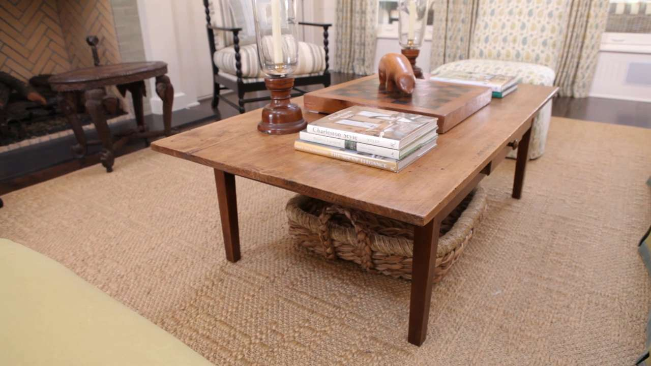Coffee Table Decorating how to decorate a coffee table - southern living