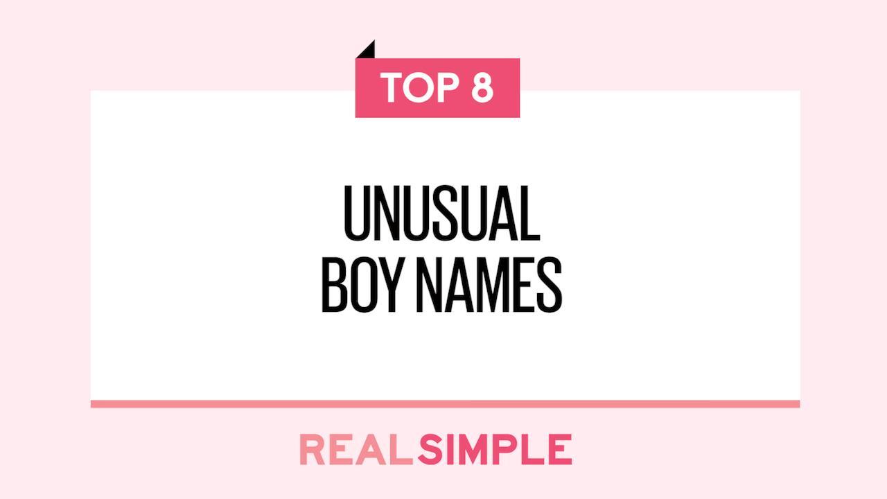 8 Unusual Boy Names Unique Baby