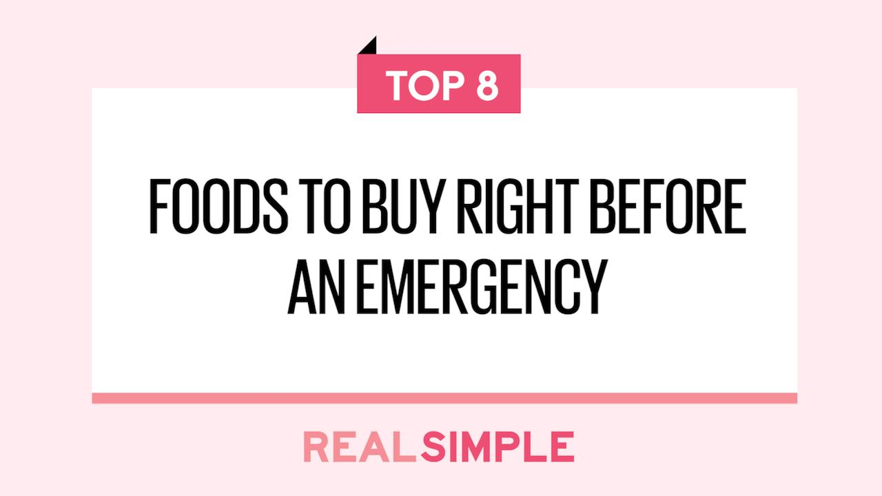 best foods to stockpile for an emergency real simple