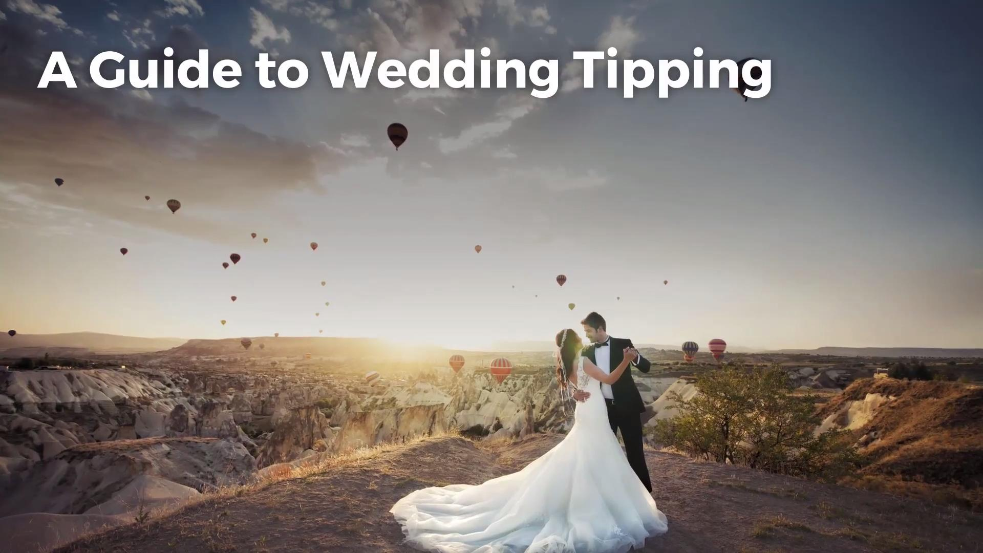 Tipping at wedding reception