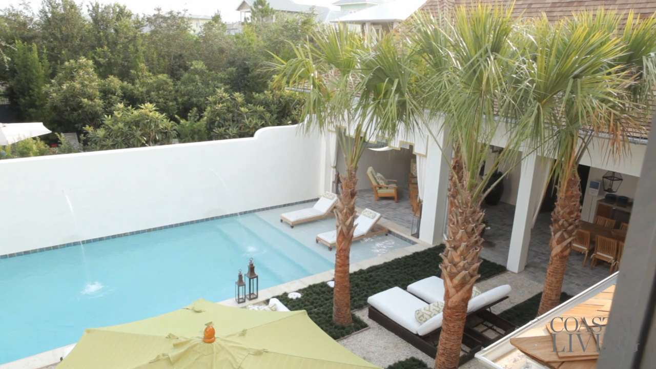 Tour the rosemary beach outdoor living space coastal living for Outdoor living spaces florida